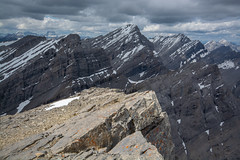 Gusty, Galatea, The Tower (Darren Umbsaar) Tags: mountain mountains fortress kananaskis alberta rockies canada canadian summit chester headwall lakes lake marmot valley water creek wildlife bird moss ice snow cliffs ridges fold geology