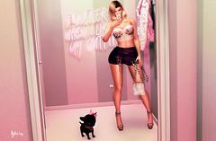 Buscando ofertas (Yhesy) Tags: secondlife selfie sexy skirt slb16 shopping maitreya top bag magika hair outfit fashion