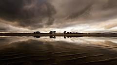 stranded reflection (-dubliner-) Tags: beach reflection dublin cloud landscape strand velvetstrand coast ireland lowtide dramaticsky sea