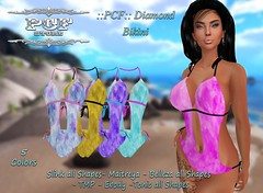::PCF:: Diamond Bikini (pcfstoresecondlife) Tags: women event release tmp tonic outfit promo second secondlife sl store slink site fitmesh female girl hud life virtual virtuallife virtualstore belleza bikini new newrelease maitreya marketplace marketplacesl ebody