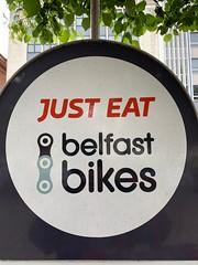 Just Eat Belfast Bikes (John D McDonald) Tags: iphone appleiphone iphonexr appleiphonexr northernireland ni ulster geotagged belfast