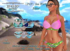 ::PCF:: Sea World Bikini (pcfstoresecondlife) Tags: women event release tmp tonic outfit promo second secondlife sl store slink site fitmesh female girl hud life virtual virtuallife virtualstore belleza bikini new newrelease maitreya marketplace marketplacesl ebody