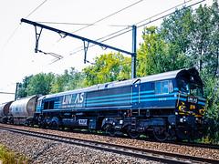 LINΞΛS 513-10 met dolimetrein (+ 7782 & 7774 achterop) @ Bilzen (Avinash Chotkan) Tags: lineas class66 nedmag trains belgium cargo dieselpower 51310