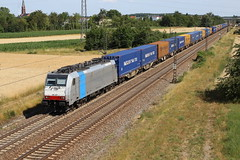 LINEAS 186 497-8 P&O Containerzug, Graben (michaelgoll777) Tags: lineas br186 traxx railpool
