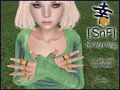 [SnF] Her Work Rings (LoveAlwaysRuby) Tags: on9 sl fashion slink rings snf shiawasenafukuya