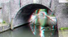 Paulusbrug Utrecht 3D (wim hoppenbrouwers) Tags: paulusbrug utrecht 3d anaglyph stereo redcyan canal gracht brug