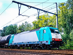 LINΞΛS 2837 met keteltrein @ Bilzen (Avinash Chotkan) Tags: railpool trains lineas bombardier traxx br186 vtg cargo belgium hle28 cobra