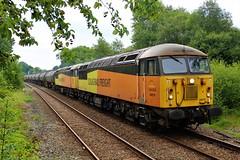 Colas Rail 56078 & 56087 6M32 Lindsey to Preston Docks (Powerhaul70Pey) Tags: colasrail 56078 56087 6m32 lostockhall preston freight trains locomotive railway rail railroad