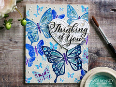 Thinking of you - 2019-06-14 (Handmade by Natty) Tags: cardmaking 2019 cardmaking2019 papertreyinkgracefulgreetings simonsaysstampdecoheart simonsaysstampoutlinebutterflies kuretakegansaitambi