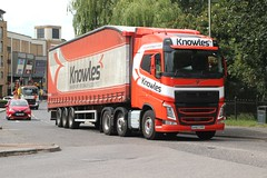 Knowles Transport . Wimblington , March , Cambridgeshire . AV67FPF . The Causeway , Bishop's Stortford , Hertfordshire . Wednesday 10th-July-2019 . (AndrewHA's) Tags: hertfordshire bishopsstortford truck lorry knowles transport cambridgeshire volvo av67fpf articulated mill