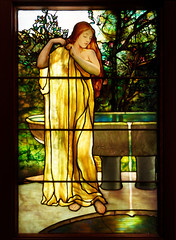The Bather (Whidbey LVR) Tags: lyle rains lylerains olympus em5ii florida orlando winter park charles morse museum tiffany leaded stained glass window