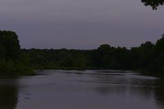 Dusk at Lake Newport with bird landing (ghostlyfour2) Tags: dusk water waterfowl lake lakenewport youngstownohio youngstown ohio july fujifilm fujifilmxt3 fujinon fujinon55200mm millcreekpark