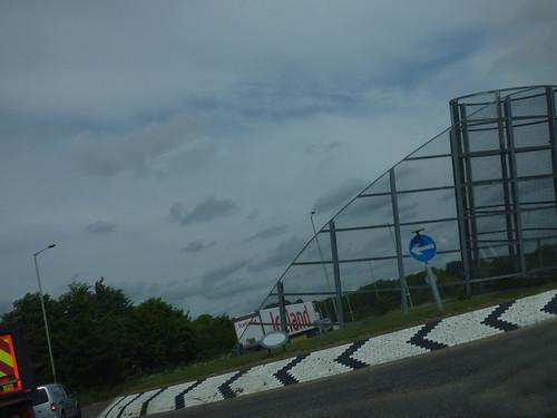 A1017 roundabout sculpture near Haverhill
