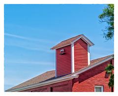 Rooftop Shed (Timothy Valentine) Tags: large sky hrsw fbpost 2019 0719 red bristol rhodeisland unitedstatesofamerica