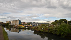 Industrial Reflections - 1, Wolverhampton Canal (rq uk) Tags: rquk nikon d750 wolverhampton canal reflections clouds nikond750 afsnikkor1835mmf3545ged