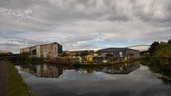 Industrial Reflections - 2, Wolverhampton Canal (rq uk) Tags: rquk nikon d750 wolverhampton canal reflections clouds nikond750 afsnikkor1835mmf3545ged