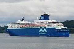 MS Zenith - Hound Point - 10-07-19 (MarkP51) Tags: mszenith houndpoint firthofforth scotland cruiseliner pullmantur ship boat vessel water sunshine sunny nikon d500 nikonafp70300fx