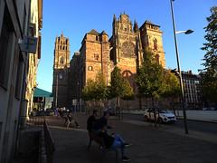 Rodez (Andy WXx2009) Tags: landscape landmark city cityscape aveyron tower cathedral architecture shadows rodez france religion church skyline building beauty artistic history culture europe sunlight urban tourism outdoors