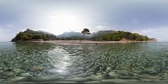 360 panorama at Cala Tuent, Mallorca (Sitoo) Tags: 360photograpgy 360degreeview balearicislands calatuent illesbalears majorca mallorca nature beach equirectangularpanorama famousplace mediterraneansea sea summer sunny travel water tramuntana mountainrange