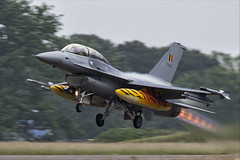 General Dynamics F-16BM Fighting Falcon - 22 (NickJ 1972) Tags: montdemarsan ba118 nato tiger meet spotters day ntm 2019 aviation generaldynamics f16 viper fighting falcon mlu fb15