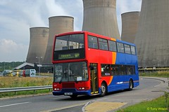 R687MFE Stagecoach Rail Replacement 16807 (theroumynante) Tags: r687mfe stagecoach rail replacement 16807 volvo olympian east lancs midlands parkway bus buses doubledeck road transport stepentrance