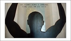 at times (fritzgessler) Tags: sculpture abstract man overlay poem