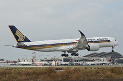 Singapore Airlines A350-941(9V-SGG) LAX Approach 4 (hsckcwong) Tags: singaporeairlines a350941 a350900 a350 9vsgg lax klax