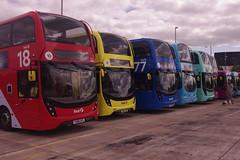 IMGP5998 First line-up (fergusabraham) Tags: glasgow firstbus firstglasgow caledoniadepot alexanderdennis enviro