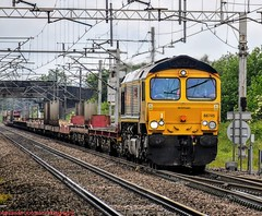 66745 @ Acton Bridge (A J transport) Tags: class66 diesel locomotive 66745 freight gbrf railfreight railway trains england shed nikkon d5300 dlsr wcml