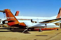 N1777T   Aero Commander 1121 Jet Commander [62] Tucson-Int'l~N 15/10/1998 (raybarber2) Tags: 62 airportdata bizjet brokenup cn62 cancelled filed flickr ktus n1777t planebase print raybarber stored usacivil