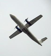 ATR 72-212A G-ISLN Blue Islands (Flight S1523 Southend To Guersey) (Oldpicruss) Tags: plane aircraft airplane aeroplane airliner prop atr72 atr gisln blueislands