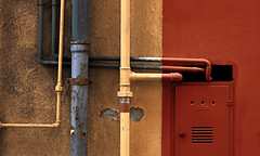 compositions - 88 (Rino Alessandrini) Tags: metal steel security equipment gate safety closed lock old industry rusty ironmetal closeup door padlock nopeople protection backgrounds architecture red everypixel