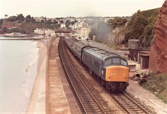 45038 Dawlish September 1982 (clivepsmithmarch1960) Tags: 45038 dawlish