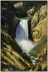 Echos of Jackson & Moran (rssii) Tags: nature scenery summer usa painterly color history water river landscape waterfall montana natural emotion artistic historic vista yellowstone wyoming nationalparks canyons 2011 loweryellowstonefalls