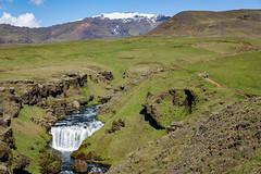 Skogafoss Waterfall Backcountry (Alex E. Proimos) Tags: skogafoss waterfall backcountry country hike iceland tour hiking