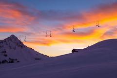 2011-01-15_170613 Skifahrn Damüls_IMG_3393 (gehring-daniel) Tags: damüls schnee skipiste berge sessellift abend sonnenuntergang abendrot
