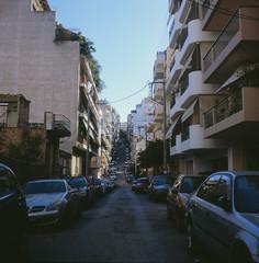 Athens dusk (Vinzent M) Tags: brillant heliar 75 zniv voigtländer kodak portra athen athens greece αθήνα ελλάσ