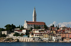 The Church of St. Euphemia in Rovinj (Wolfgang Bazer) Tags: church st euphemia kirche der heiligen campanile di san marco bell tower baroque barock rovinj rovigno istria istrien kroatien croatia