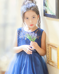 Tori back up against it (kellypettit) Tags: daughter portrait model childmodel eurasian japan photoshoot princess dress blue