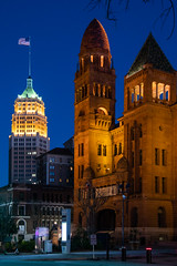 San Antonio at night (Oleg S .) Tags: night usa sanantonio texas architecture cityscape civicarchitecture skyscraper bluehour skyline e