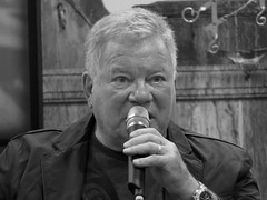 William Shatner isn't #CaptKirk in real life but he was great as Kirk. (kennethkonica) Tags: comics people persons canonpowershot canon indiana indianapolis indy hoosier global random usa america fun pose midwest face kennethkonica eyes daysofthedead williamshatner startrek captkirk mic male