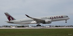Airbus A350-900 (A7-ALR) Qatar Airlines (Mountvic Holsteins) Tags: airbus a350900 a7alr qatar airlines mia miami international airport florida