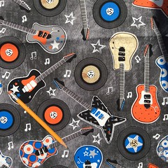 C-0300 Guitars on gray, Brother Sister Design Studio (MyLittlePoppySeed) Tags: c0300 guitars gray grey brothersister designstudio orange blue black royalblue guitares bleu bleuroyal gris tissu fabric cotton coton mylittlepoppyseed music musique mod moderne boyish boysprint imprimégarçon rock discs disques longjeu instruments band records roll vinylrecords musicfan amateurdemusique rockband musiclovers quitarlovers