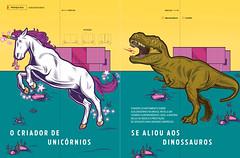 PEGN (Lovatto Ilustrador) Tags: revista magazine lovatto editorial pegn illo illustration art arte design brasil brazil tech startup unicorn dinossaur