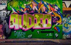 Audio (Steve Taylor (Photography)) Tags: audio thecrew graffiti mural streetart tag colourful uk gb england greatbritain unitedkingdom london leakestreet