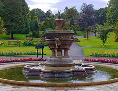 Levengrove Park (Rollingstone1) Tags: dumbarton park landscape scotland fountain flowers grass trees nature flora water sky structure flow reflections scenery levengrovepark gargoyle architecture pool summer