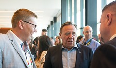 Premiers/premiers ministres Moe and/et Legault at the welcome reception/à la réception de bienvenue