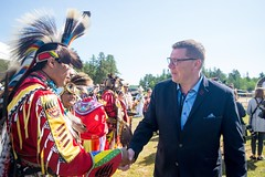 Premier/premier ministre Moe at the meeting with Indigenous leaders / à la Rencontre avec les dirigeants autochtones