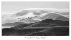 Drifting Fog, Hills (G Dan Mitchell) Tags: carrizo plain national monument drifting fog mist clouds sunrise dawn hills mountains spring green pour california usa north america landscape nature arid