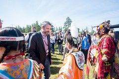 Premier/premier ministre Silver at the meeting with Indigenous leaders / à la Rencontre avec les dirigeants autochtones